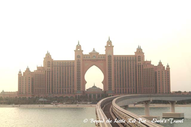 Atlantis Hotel and water theme park. We took the monorail from the mainland.