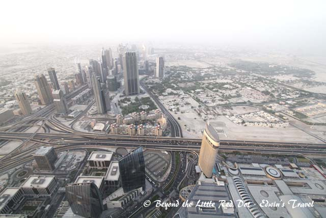 A bird's eye view of downtown Dubai.