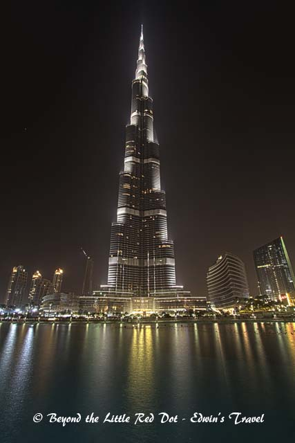 Burj Khalifa, currently still the tallest building in the world. 828m high with 160 floors.