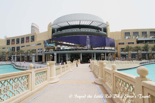 One of the entrances to the Dubai Mall.