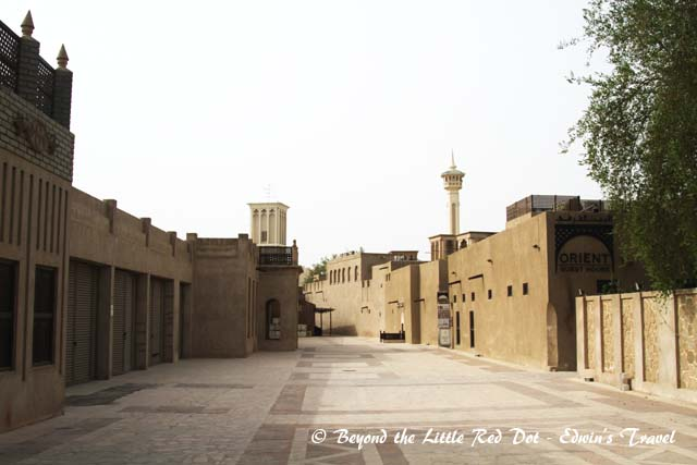 The old buildings and alleys beside the Dubai Museum.