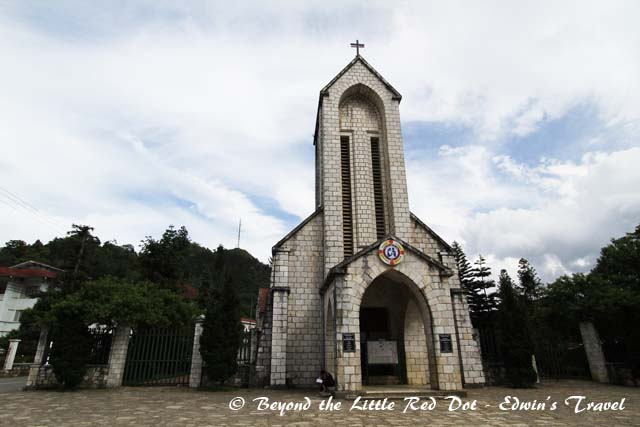 The Holy Rosary Church which built by the French in the 1930's. This is centerpiece of Sapa. Next to it you will find the town amphitheater.