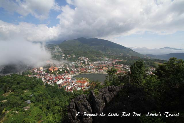 View of Sapa from Ham Rong lookout point