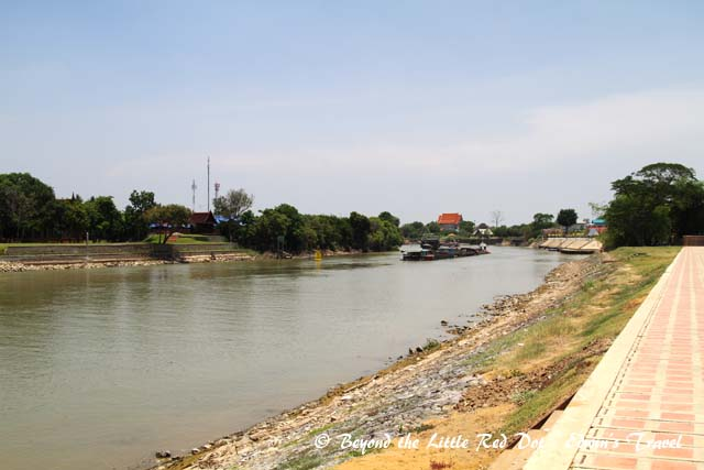 A view of the Chao Phraya River that runs just behind Wat Chai Wattanaram. The  level of water has already gone down to normal.