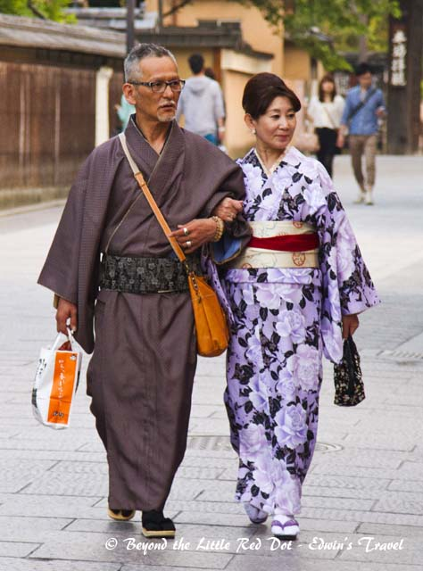 A couple in traditional dress.