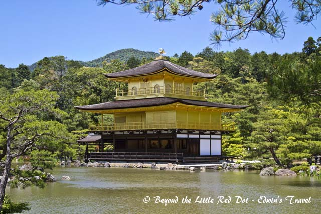 The Golden Pavilion as it is called. The top 2 floors are covered in gold leaf. Of course nobody is allowed to touch the building.