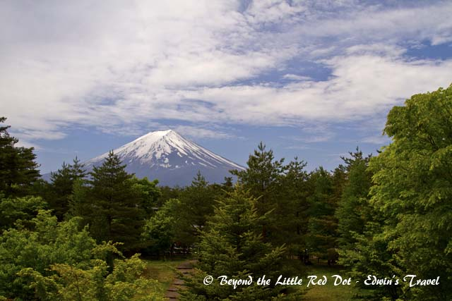The first glimpse of Mt. Fuji from the visitor centre.