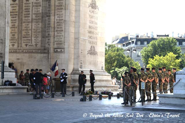 There was some sort of war veterans ceremony on the day of our visit.