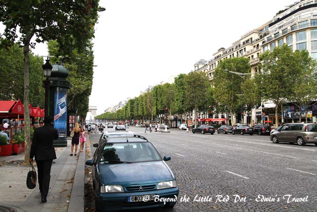 It may not look like much but the Champs Elysees is the world's most famous shopping street.