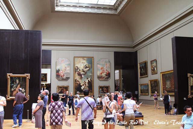There are several wings in the museum all displaying art from all over the world.