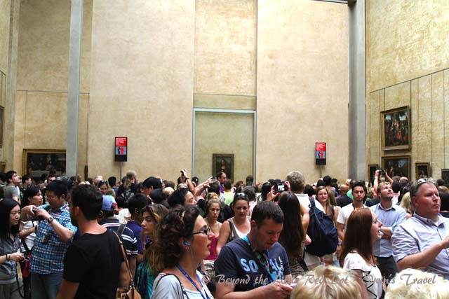 But everyone comes mainly to see the most famous painting, the Mona Lisa. You have to fight through the crowd just to catch a glimpse of it, protected behind bullet proof glass.