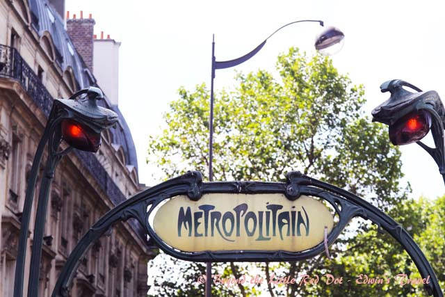 Just look for the Metro signs that indicate a subway station entrance.