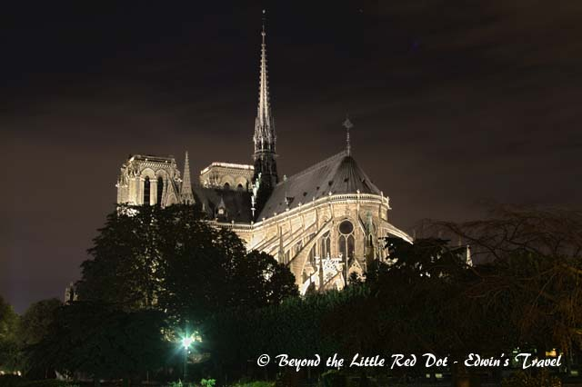 Back view of Notre Dame.