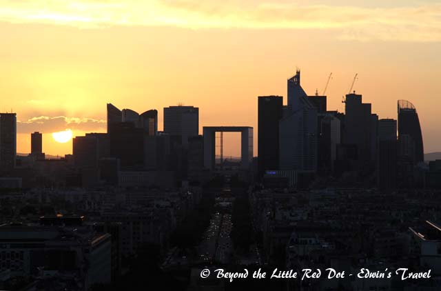 Sunset with La Defense.