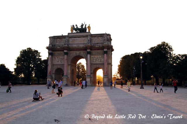 At the edge of the Tuileries is a smaller arc, the Arc de Triomphe du Carrousel.