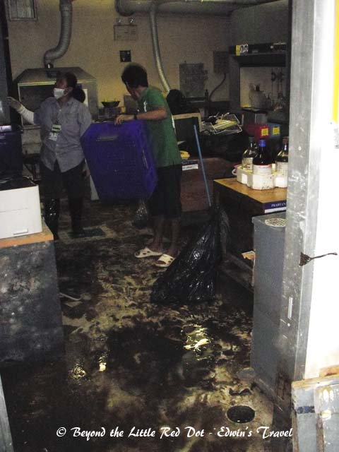 Cleaning up the mess after being soaked in flood water for almost 3 months.