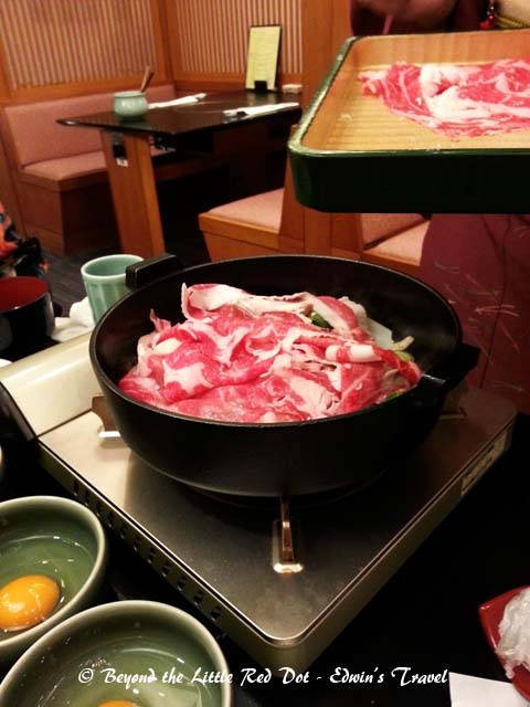 We had a sumptuous sukiyaki dinner.