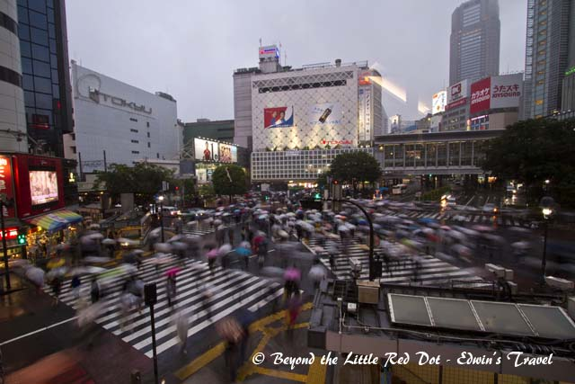 The mad rush at Shibuya intersection.