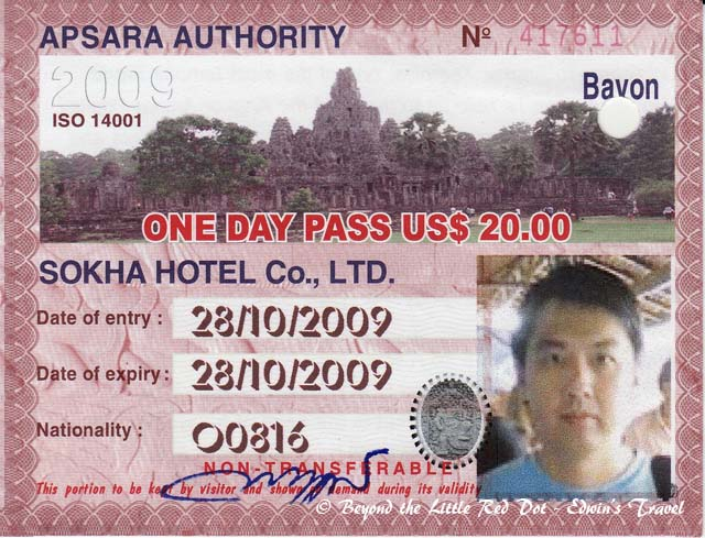 This is the entry permit. Your photo will be taken on the spot and printed on the permit, so it's not transferable.