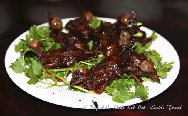 On another night we had some local Vietnamese food. How about some fried sparrows?