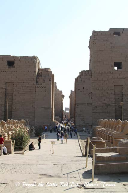Entrance to Karnak Temple.