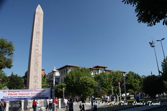 Several obelisks also stand in the square.