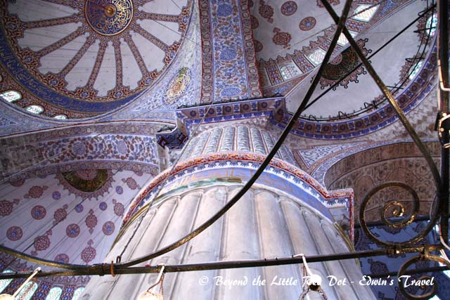 A look at the interior of the Blue Mosque.
