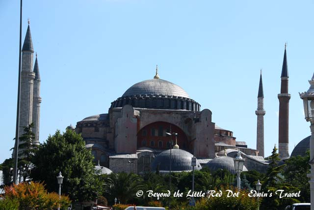 A short walk across from the Blue Mosque was the Hagia Sophia. This is the most well known landmark in Istanbul.