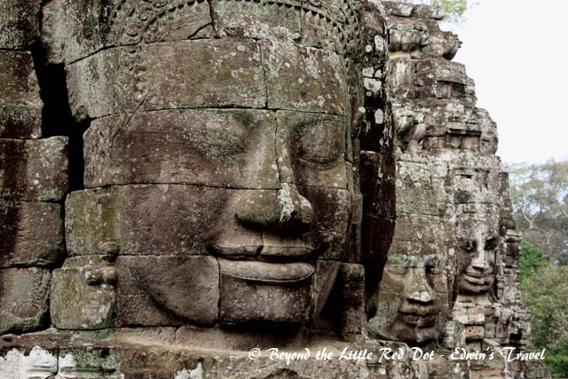 Bayon is also famous for its giant stone Buddha faces.