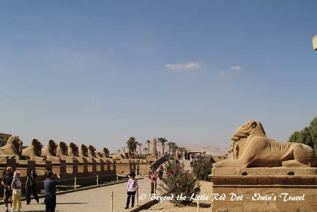 Rows of Sphinxes line the main path to the temple.