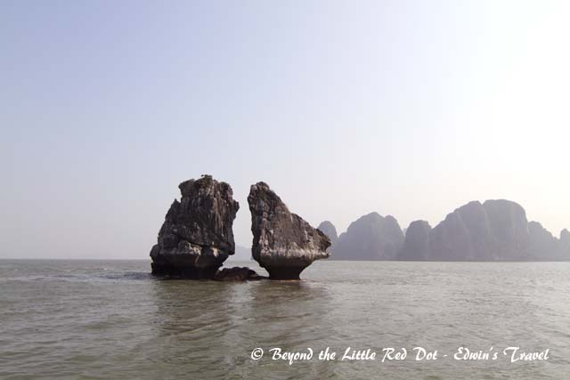 We pass by strange rock formations with various names.