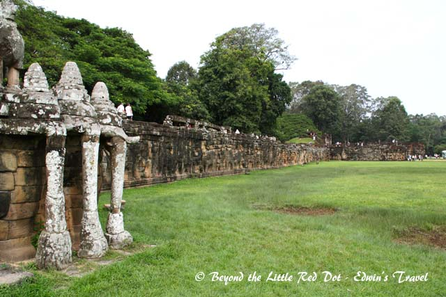The Elephant Terrace. It's said that the king would sit here and watch his war elephants parade past.