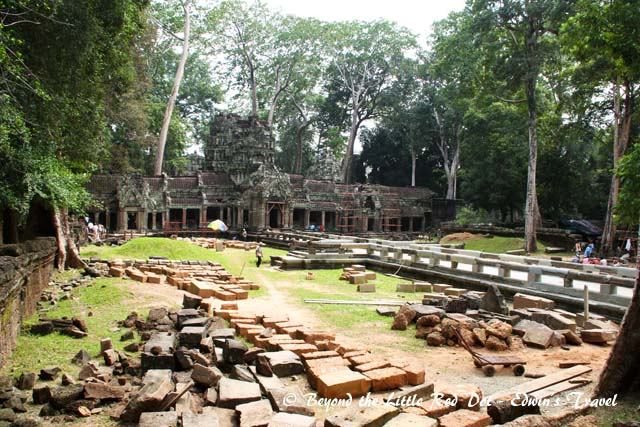The entrance to Ta Prohm. There was much reconstruction work going on when we were there.
