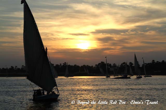 My first of many sunsets over the Nile.