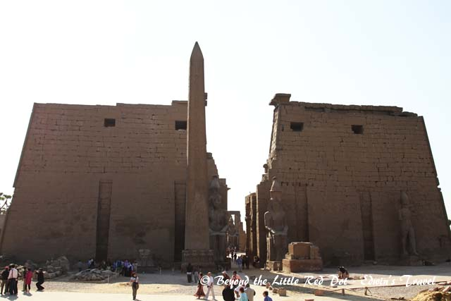 Entrance to the Temple of Luxor.