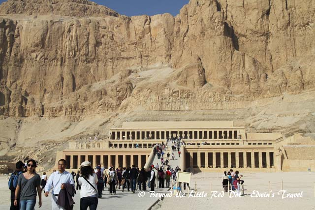 The temple of Queen Hatshepsut, dedicated to the sun god Amon-Ra.