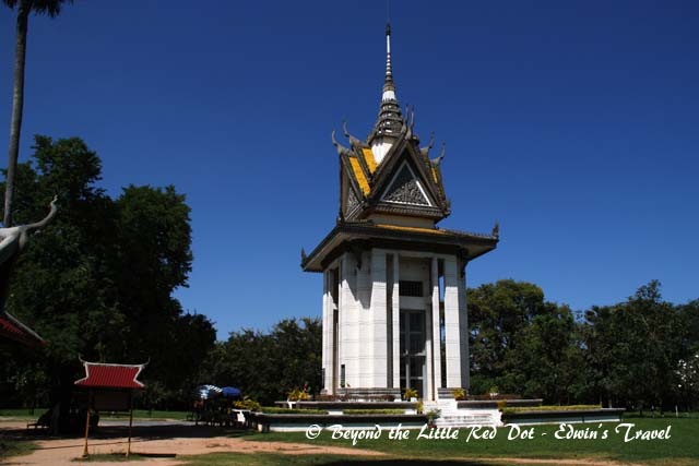 The memorial at the Killing Fields.