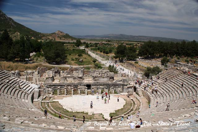 The amphitheater of Ephesus.