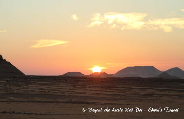 The sun rising as we sat in the bus travelling to Abu Simbel.