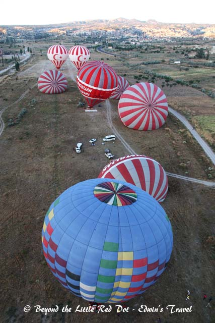 We were the first to take off and had a good view of the rest of the balloons.