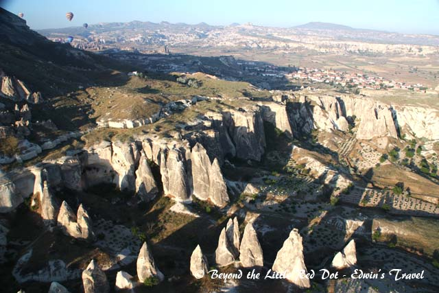 Looking at the fairy chimneys that make Cappadocia famous.