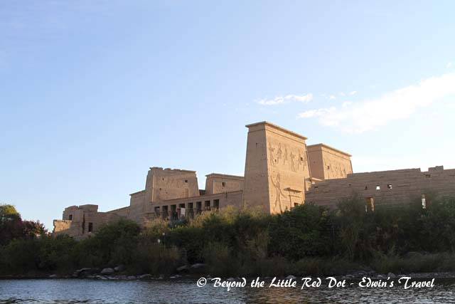 The Temple of Philae was also dismantled and moved to the current site due to the construction of the Aswan High Dam.