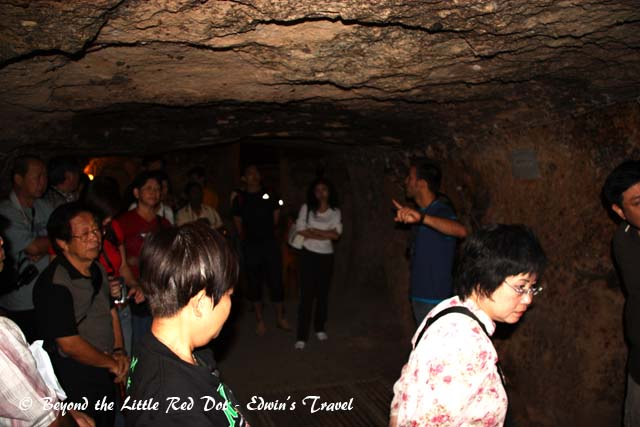 One of the stops where our guide explained about the underground city. He also had to do a count since the whole place was a maze and anyone who got lost would be difficult to find.