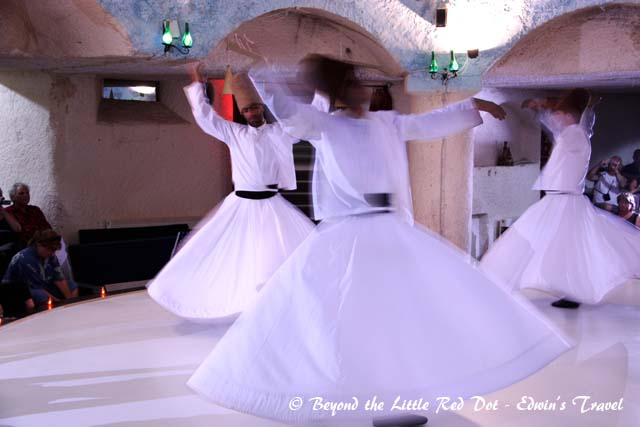 We also watched a performance by the whirling dervishes. This is actually a religious performance.