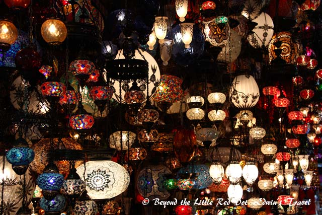 Arabian lamps for sale.