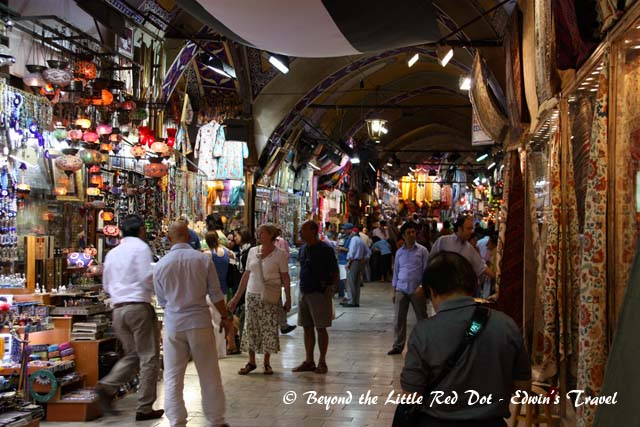 One of the covered streets of the Grand Bazaar.