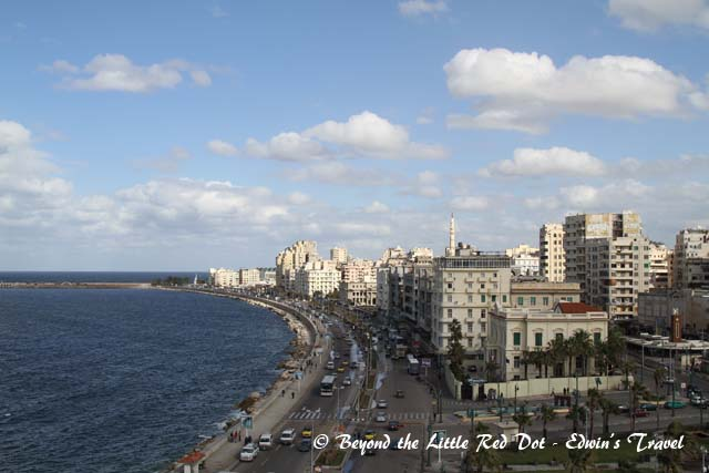 We went for lunch at a restaurant along the coast and had a good view of Alexandria.