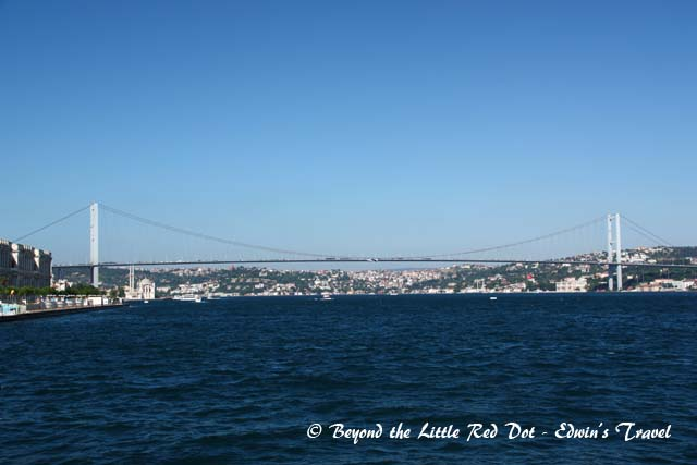 The Bosporus Bridge that connects Asia and Europe together.