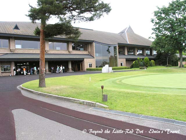 Getting ready for our golf game at Konagei Country Club.