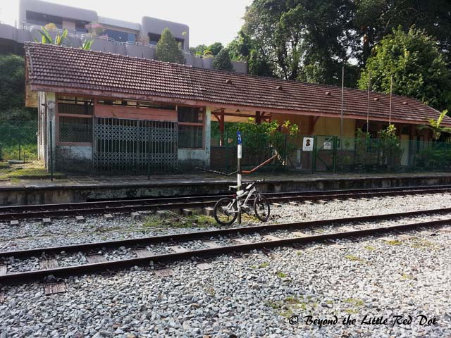Only the tracks near the Bukit Timah Station and the iron rail bridges are left.